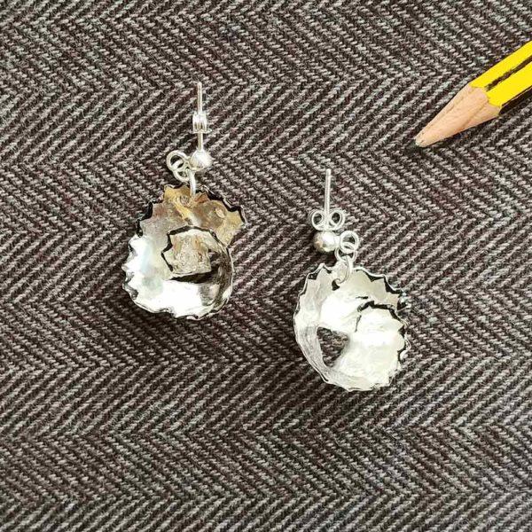 Pendientes de plata Virutas Lápiz | Tana tienda artesanal
