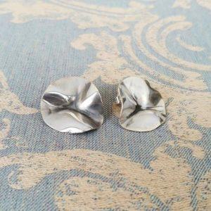 Pendientes plata petalos | Tana tienda online