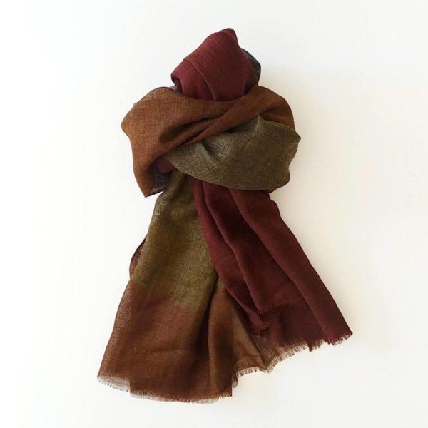 fular de lana tonos cobrizos