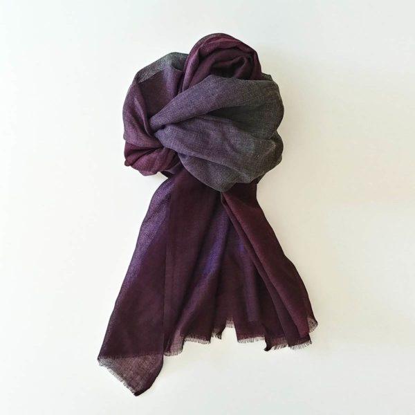 fular de lana tonos morados