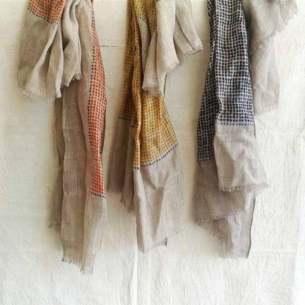 fular de lana puntos
