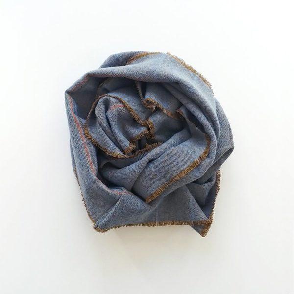 buff de lana merina azul