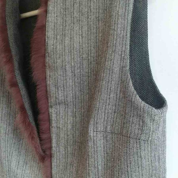 Chaleco lana espiga verde