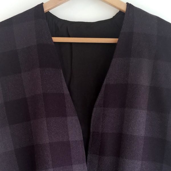 Chaqueta de lana lila
