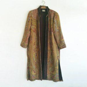 Tana abrigo kimono lana marron mostaza