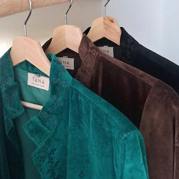 Tana, abrigo kimono de terciopelo
