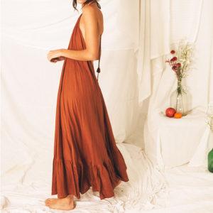Vestido espalda escotada