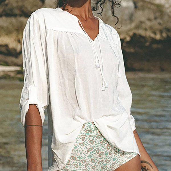 camisola blanca
