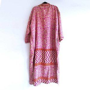 kimono vintage seda fucsia