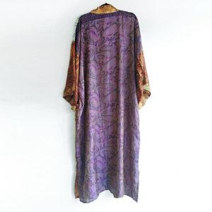 kimono vintage seda morado