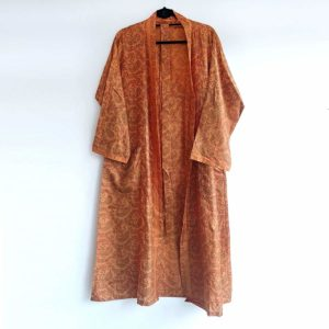 kimono vintage seda naranja