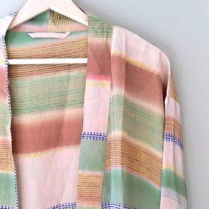 kimono vintage seda rayas