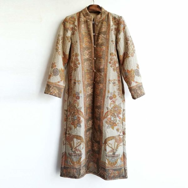 abrigo casaca de lana etnico