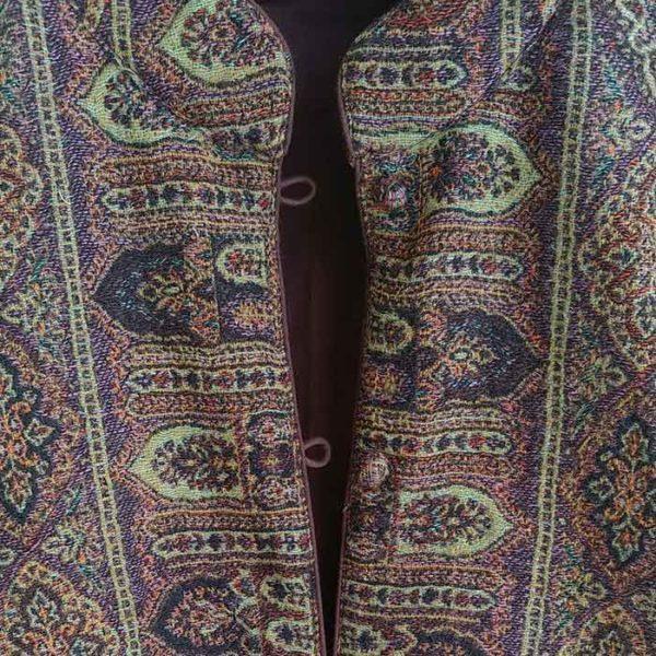 abrigo casaca de lana marron