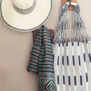 bolso algodón ecologico tejido a mano