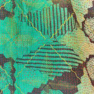bolso kantha verde
