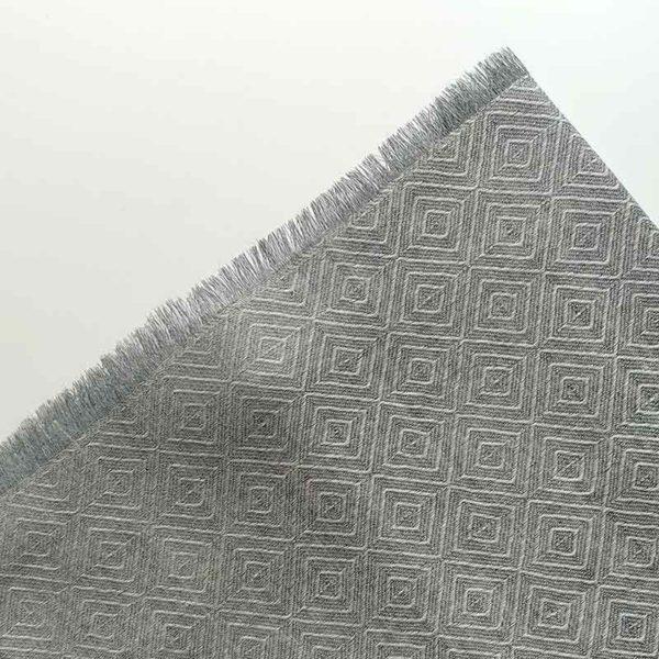 fular de lana rombos gris