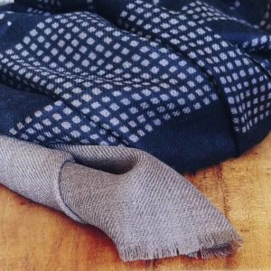 fular lana merino azul
