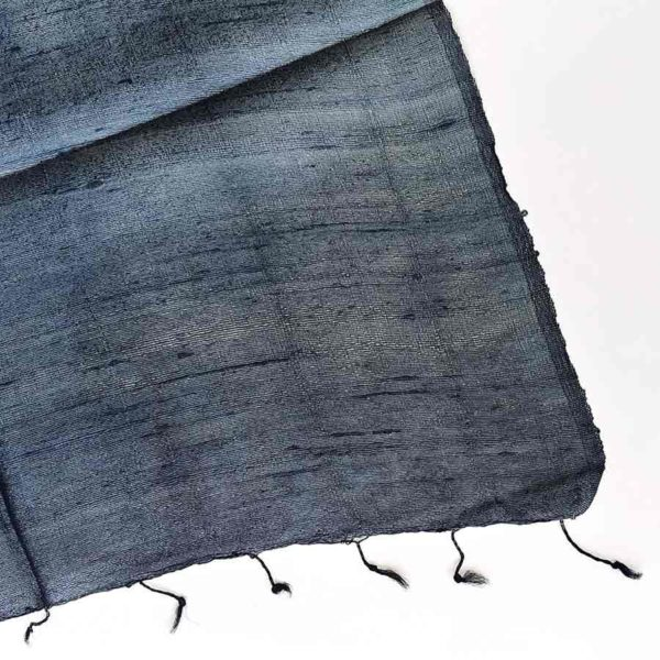 fular de seda salvaje azul